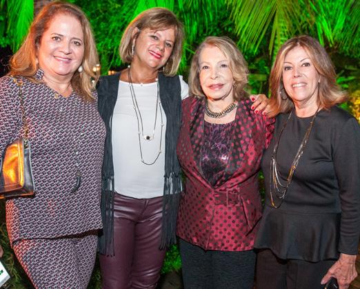 Renata Fraga, Rosana Rodrigues, Ilka Bambirra e Sylvia de Castro