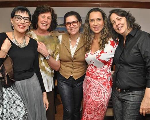 Yacy Nunes, Lygia Marina, Joana Teixeira, Raonise Costa e Jaqueline Vergara
