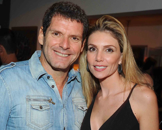Alexandre Accioly e a mulher Renata Padilha