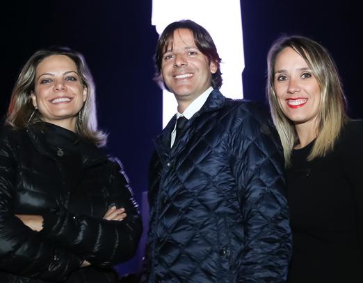Andrea Cury, Luciano Dualib e Bruna Palma