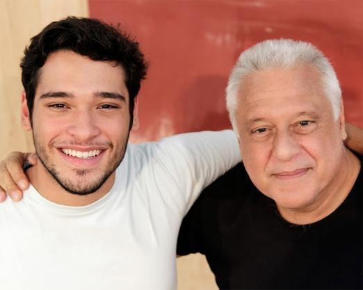 Bruno Fagundes e o pai Antonio