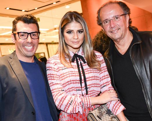 Cris Diniz, Thassia Naves e David Bastos