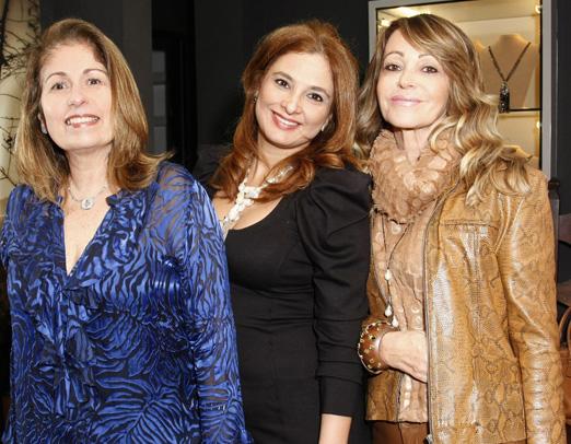 Cristina Lips, Cris Senna e Elaine Velloso