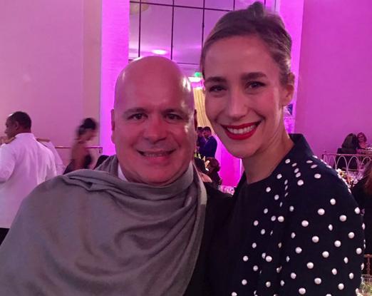 Eder Meneghine e a designer Paola de Orleans e Bragança