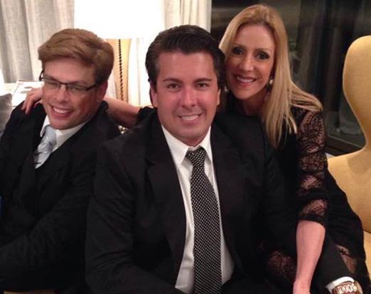 Isabela Francisco com os queridos Bruno Chateaubriand e André Ramos