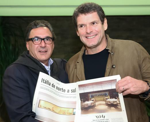 Rogério Fasano e Alexandre Accioly