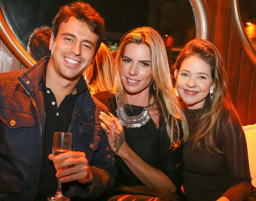 Thiago Mello, Renata de Abreu e Denise Barcelos