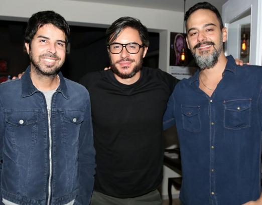 Alex Lerner, Ricardo Tozzi e Marcelo Marins