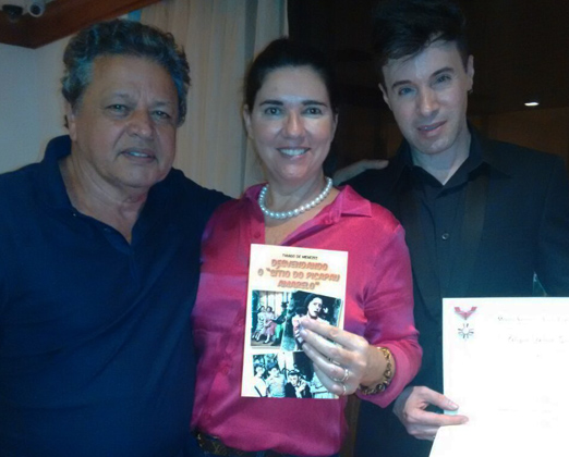 Aloysito com Joana Maria Teixeira e Thiago de Menezes