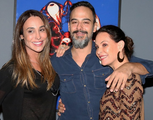 Carol Marra, Marcelo Marins e Carolina Ferraz