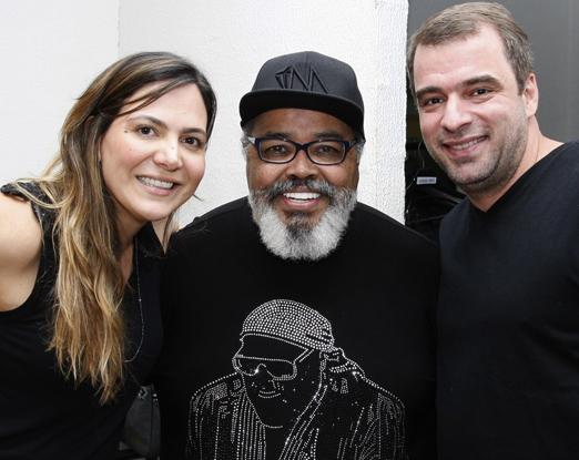 Carol Sampaio, Jorge Aragão e Guilherme Schleder