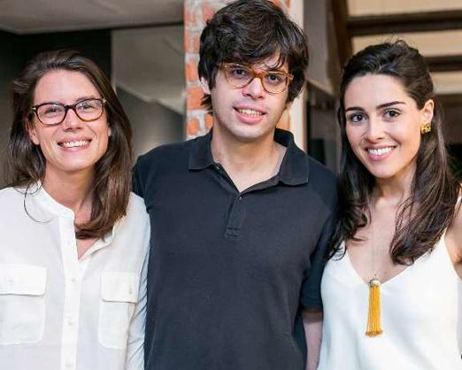 Constance Albanel, João Francisco Fischer e Camila Cunha