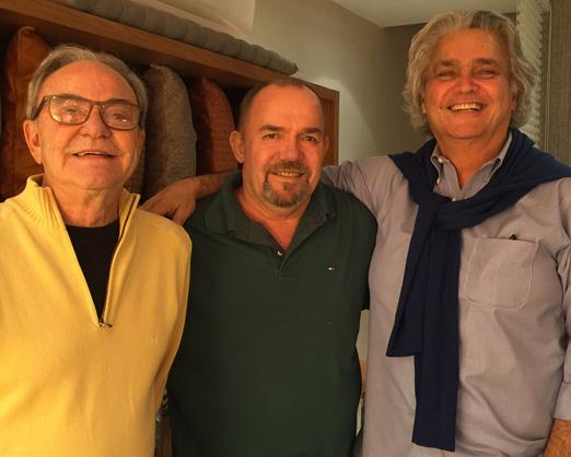 Geraldo Lamego, Carlos Hansen e Pedro Paranaguá