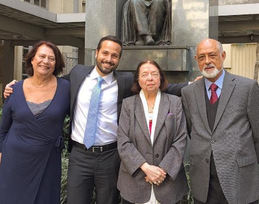 Marcelo Calero com Domício Proença Filho, Nélida Piñon e Ana Maria Machado