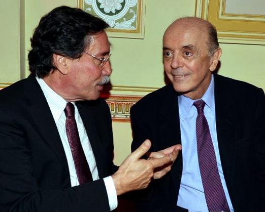 Merval Pereira e José Serra
