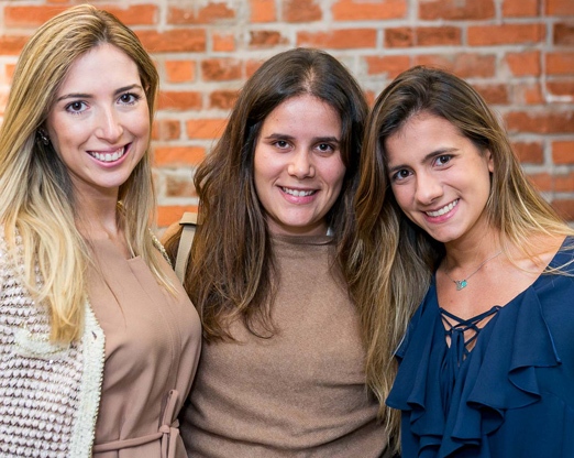 Nicole Leta, Maria Eduarda Macedo e Juliana Vargas