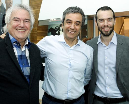 David Zilberman, João Carlos Calil e Rafael Zilberman
