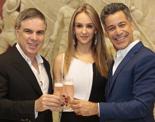 Flavio Rocha, Larissa Gontijo e Luiz Calainho