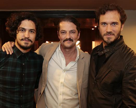 Gabriel Leone, Marcelo Serrado e Paulo Rocha
