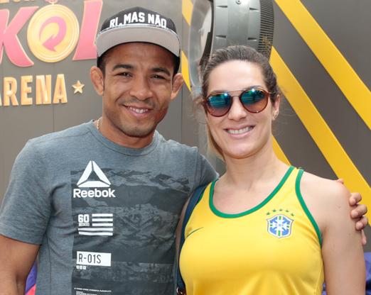 Jose Aldo e a mulher Vivianne Oliveira