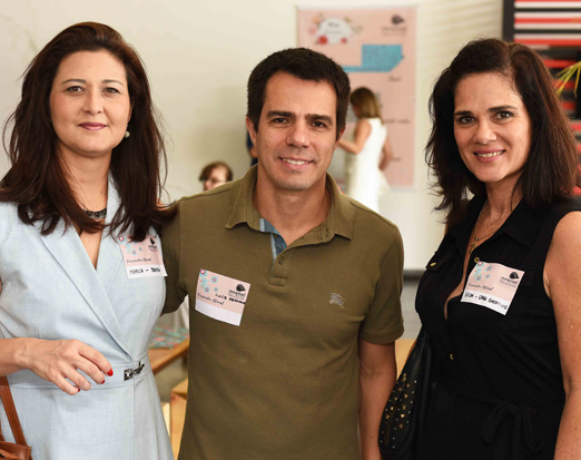 Marcia Morelli, Luis Fernando Amorim e Gilda Antoniazzi