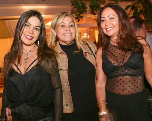 Margot Martins, Valeria Cabral e Rosangela de Oliveira