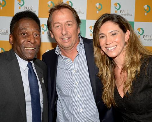 Pelé, Janick Daudet e Simone Cavalieri