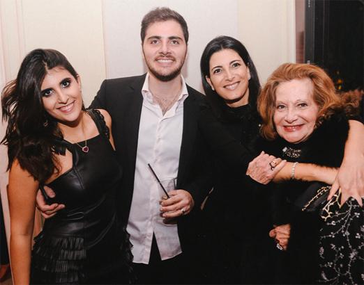 Sofia Derani, André Bocchi, Tania Derani e Vera Salém