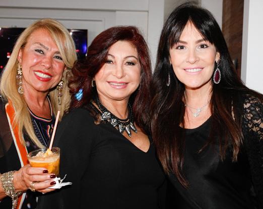 Zelia Lima, Eliane Amin e Fernanda Linch