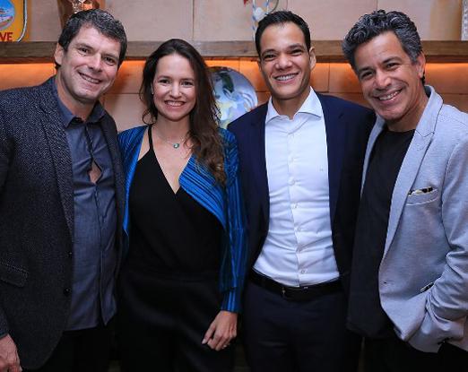 Alexandre Accioly, Brenda Valansi, Márcio Parizotto e Luiz Calainho