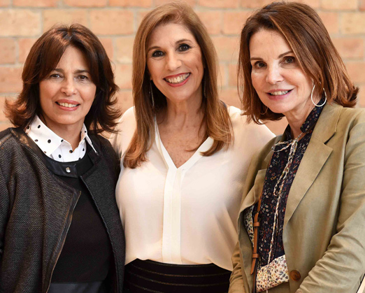 Ana Indio da Costa, Cintia Utchitel e Patricia Mayer