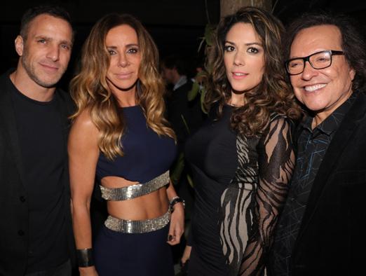 Carlos da Cruz, Cristiana Arcangeli, Viviane Vieira e Wolf Maya