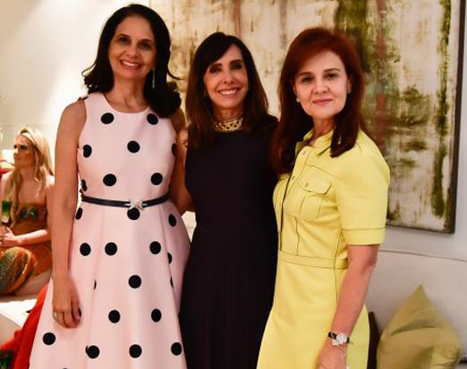 Gláucia Ferrer, Cleucy Oliveira e Mônica Paes de Andrade