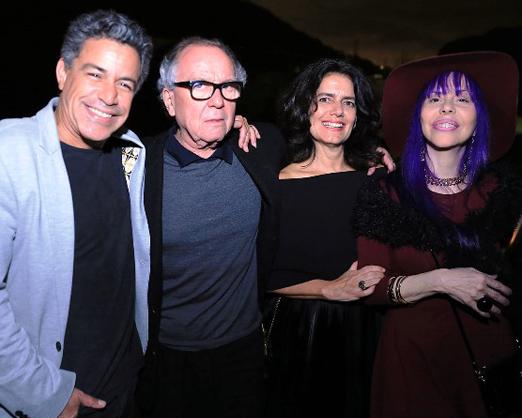 Luiz Calainho, Washington Olivetto, Patrícia Viotti e Baby do Brasil