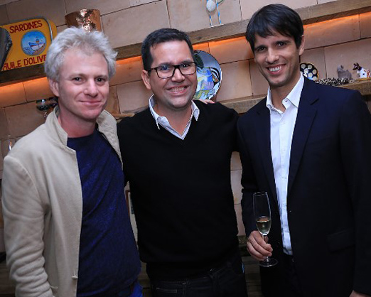 Márcio Botner, Tiago Freire e João Vergara