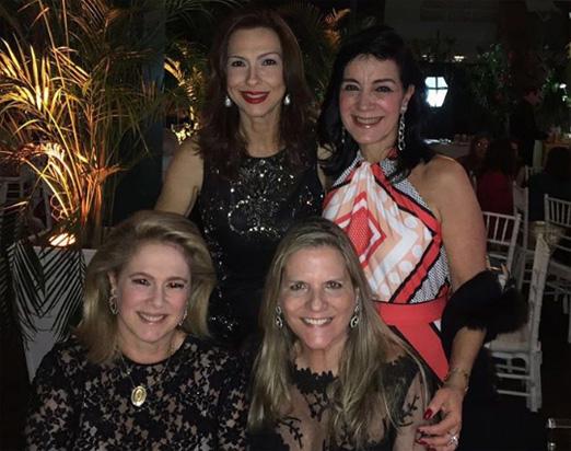 Mylene Peltier, Monica Clark, Glória Severiano Ribeiro e Maninha Barbosa