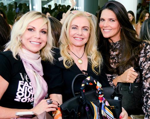 Nina Kaufmann, Heliana Lustman e Daniella Sarahyba