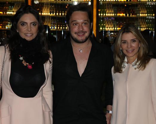 Rosangela Lyra, Helinho Calfat e Adriana Siqueira