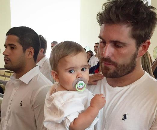 Thiago e o filho Gabriel