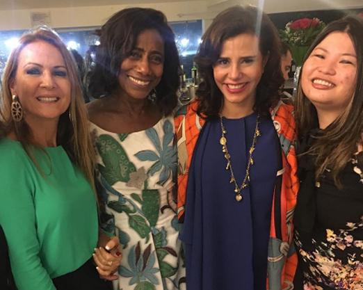Carla Lubisco, Glória Maria, Narcisa Tamborindeguy e Daniela Dondo
