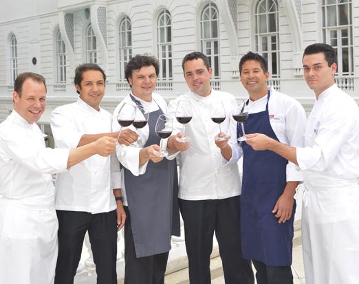 Chefs dos restaurantes do Copa