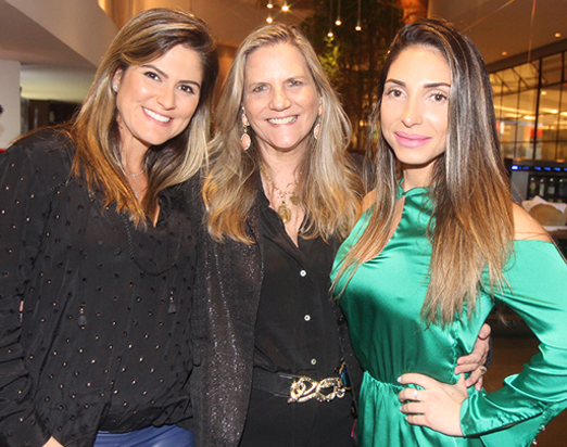 Georgiana Ramos, Maninha Barbosa e Aline Oliveira