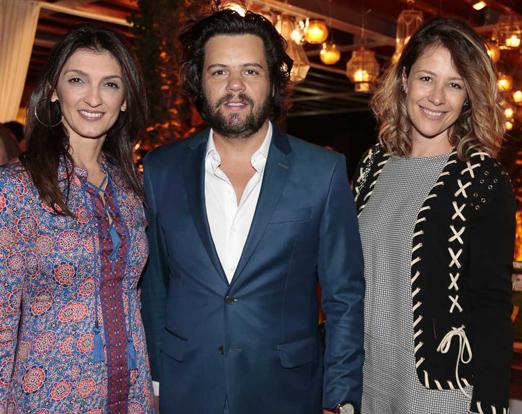 Leticia Carvalho, Tiago Pacheco e Daniela Bechara