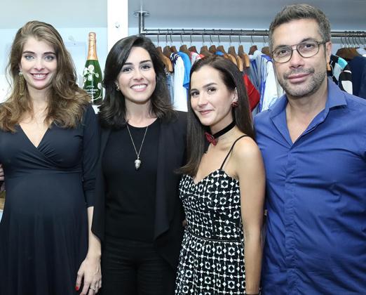 Maria Frering, Joana Nolasco, Camila Cunha e Fernando Torquatto