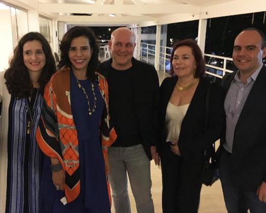 Marianna Tamborindeguy de Oliveira, Narcisa, Paulo Muller, Gisela Pitanguy e Antonio Paulo Pitanguy