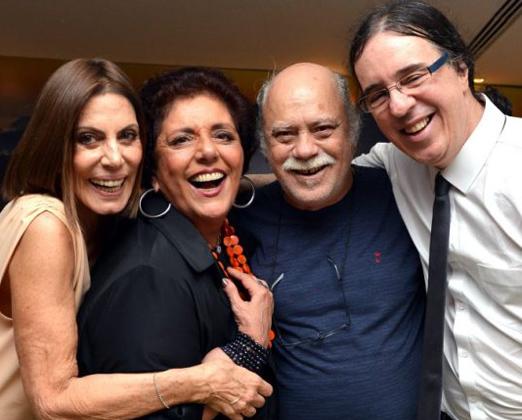 Mila Moreira, Leda Nagle, Tonico Pereira e Geraldinho Carneiro