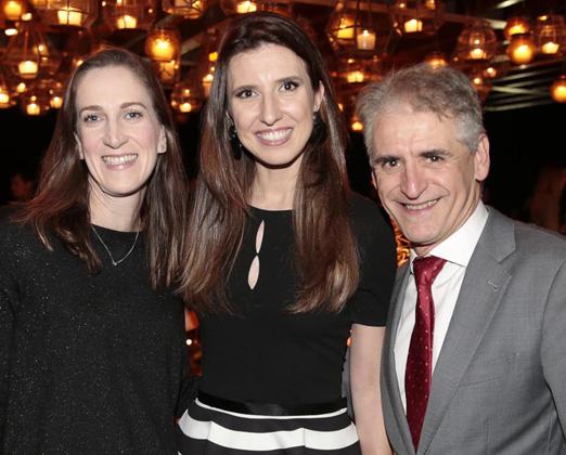 Patricia Vaks, Constance Zahn e Roberto Cohen