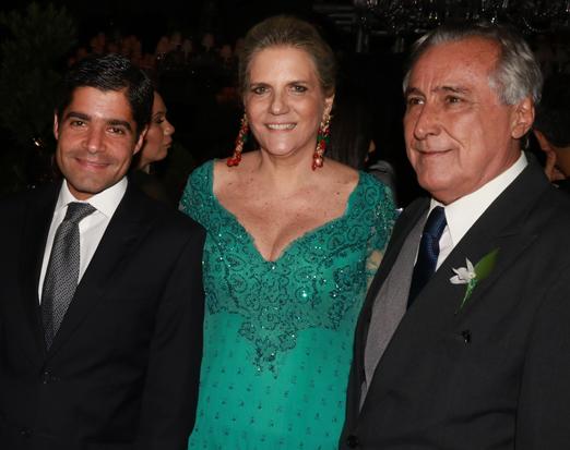 ACM Neto com Maninha e Leleco Barbosa