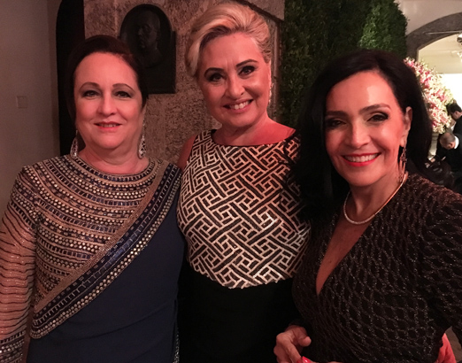 Beth Serpa, Paula Almeida e Liliana Rodriguez