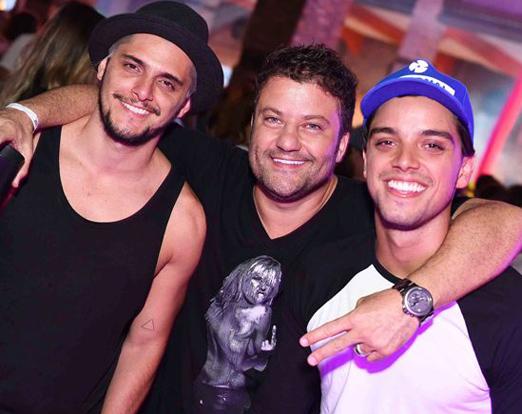 Bruno Gissoni, Peterson Ibrahim e Rodrigo Simas